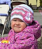 Весенняя ажурная шапка на девочку с цветком, фото 5