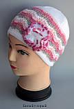 Весенняя ажурная шапка на девочку с цветком, фото 6
