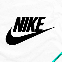 Наклейки для бизнеса на текстиль для дома Nike [7 размеров в ассортименте] (Тип материала Матовый)