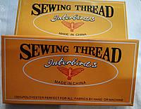 """Нитки """"Sewing Thread""""  белые и черные"""