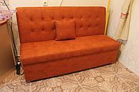 Оранжевый диванчик с ящиком на кухню, фото 1