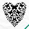 Аппликации для бизнеса на трехнитку Сердце из бабочек [7 размеров в ассортименте] (Тип материала Матовый)