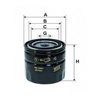 Фильтр масляный WIX WL 7067-12 ВАЗ 2101 высокий БЕЗ УП. (SCT SM 102)