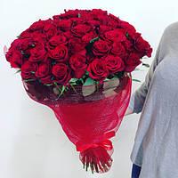 Роза красная ПРЕСТИЖ  50см 19шт