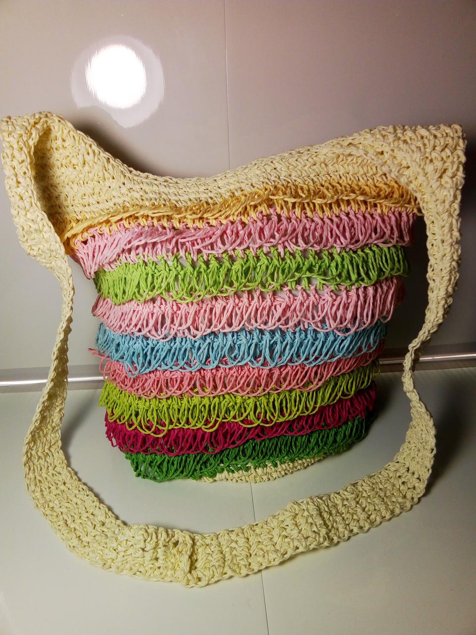 Пляжная цветная женская сумка
