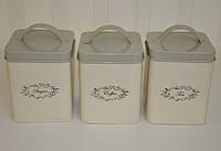 Контейнеры для хранения сахара, чая и кофе (3 шт.)