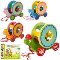 Дерявенная игрушка каталка 0985