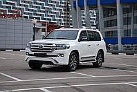 Обвес переднего бампера Middle East Toyota Land Cruiser 200 2016+ цвет белый