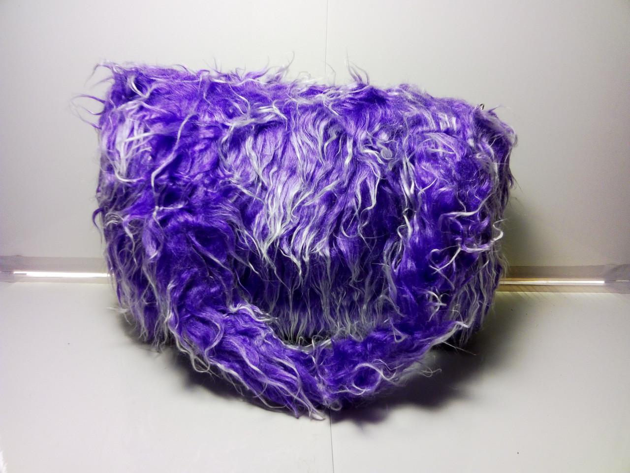 Фиолетовая меховая женская сумка