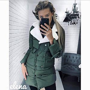 Куртка с меховым воротником, фото 2