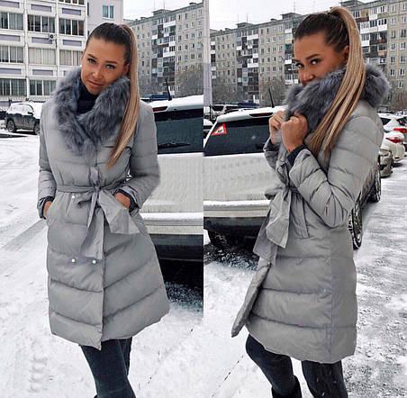 Удлинённые куртки с мехом , фото 2
