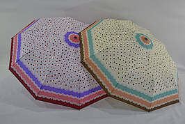 Женский зонт полуавтомат в горошек