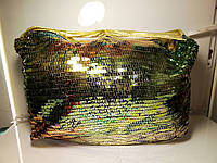 Женская сумка золотистая «Блестящая шелуха»