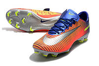 Футбольные бутсы Nike Mercurial Vapor XI FG Deep Royal Blue/Chrome/Total Crimson, фото 1