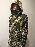 Кофта флисовая военная ТАКТИЧЕСКАЯ пиксель ВСУ 340гр/м с капюшоном 60