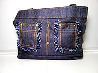 Женская сумка со стильными карманами «Джинс» 26х32 см, фото 1