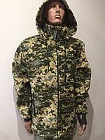 Кофта флисовая, БАЗА - 340 гр/м пиксель ВСУ с капюшоном