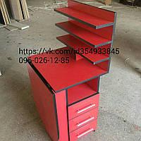 Маникюрный стол складной стол для маникюра с 3 полками красный