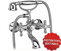 Смеситель для ванны Ferro Retro new, с лейкой и шлангом, двухвентильный