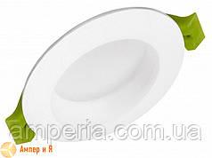 Светильник встраиваемый круглый Downlight EUROLAMP LED 5W 3000K