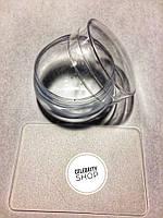 Штамп со скребком круглый с силиконовой подушечкой