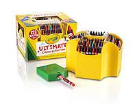 Восковые цветные мелки карандаши с точилкой, большой подарочный набор 152 карандаша, Crayola (Крайола)