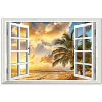 Интерьерная наклейка на стену Окно в тропики (XL8022B)
