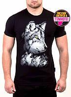 Мужская футболка с рисунком волка оптом и в розницу