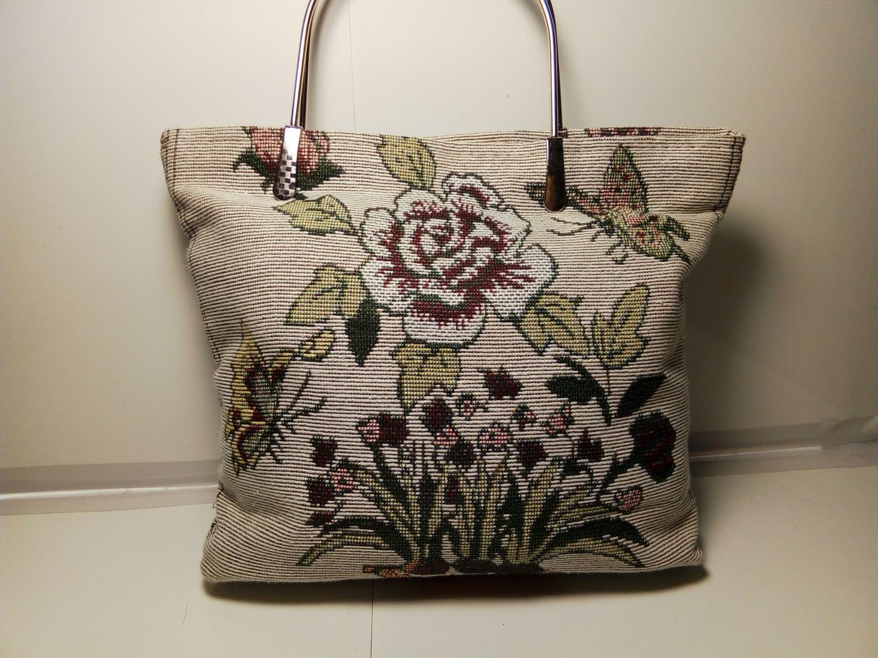 Шикарная вышитая женская сумка «Цветок»
