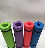 Коврик (каремат) для йоги, фитнеса и спорта  синий