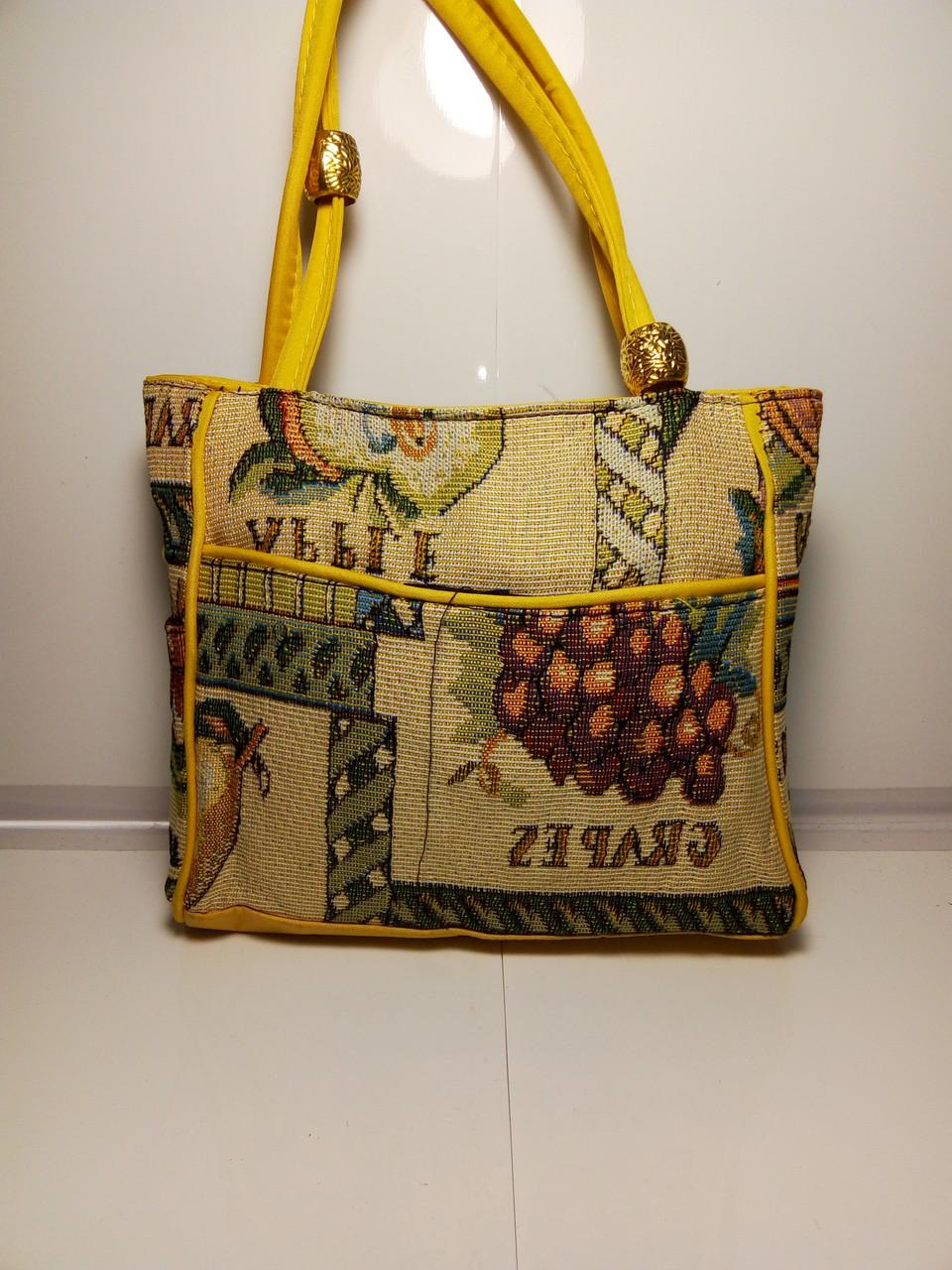 Женская сумка с принтом фрукты