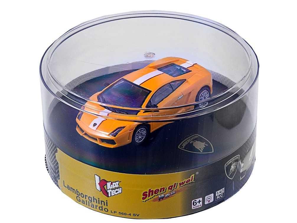 Машина на радиоуправлении микро 1:43 лиценз. Lamborghini LP560 (желтый)