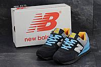 Кроссовки New Balance 574 , серые с голубым