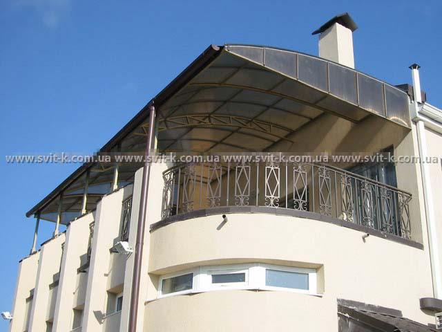 ПМП «Интергейтс» - балкон-терраса из сотового поликарбоната Полигаль