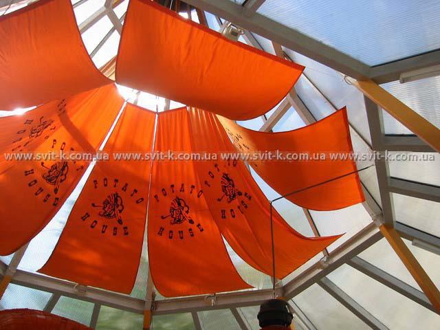 ПМП «Интергейтс» - декоративный купол летнего кафе, сотовый поликарбонат