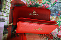 Кошелек chanel,  Модный кошелек цвета «марсала»