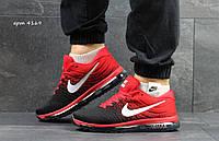 Кроссовки Nike Flyknit Air Max , красные с чёрным
