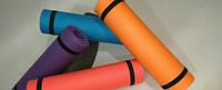 Коврик (каремат) для йоги, фитнеса и спорта  фиолетовый
