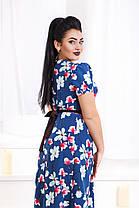 Д1342 Платье длинное с принтом размеры 48-56, фото 3
