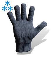 Перчатки полушерстяные теплые, вязаные