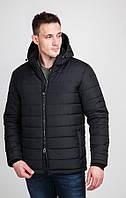Одноцветная стеганная куртка с капюшоном+батальные размеры Арт.: 012-1