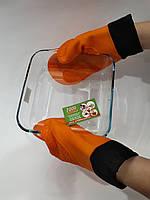 Рукавица силиконовая с текстильной вставкой 1шт. (Цвет в ассортименте!)