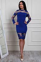 Красивое и нарядное прямое платье из кружева с ажурным краем