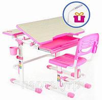 Детский стол- парта  и стул трансформеры  80 на 60см + лампа L1 Lavoro