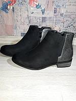 Стильные демисезонные ботинки. Женские ботинки. черные полуботинки., фото 1