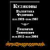 Табличка с данными вертикальная, на двоих, базальт