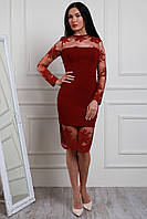 Нарядное и модное платье из красивого французского кружева