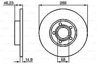 Тормозной диск передний Skoda Superb(2001-2008) Bosch(0986478545)