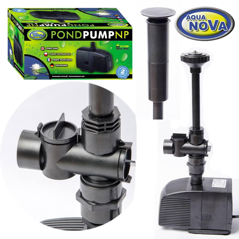 Насос для пруда фонтана каскада AquaNova NP-2000 л/ч (в к-те фонтанные насадки)