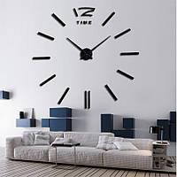 Настенные бескаркасные 3D-часы палочки, черные (большие), 3M001B